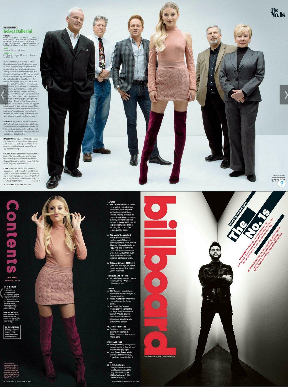 Billboard Magazine, Dec. 2016, #1's of 2016, The Record Breaker, Kelsea Ballerini