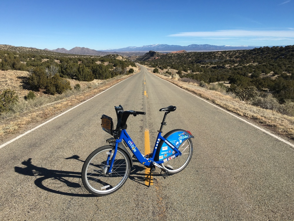 A long climb from Santa Fe to Albuquerque, NM