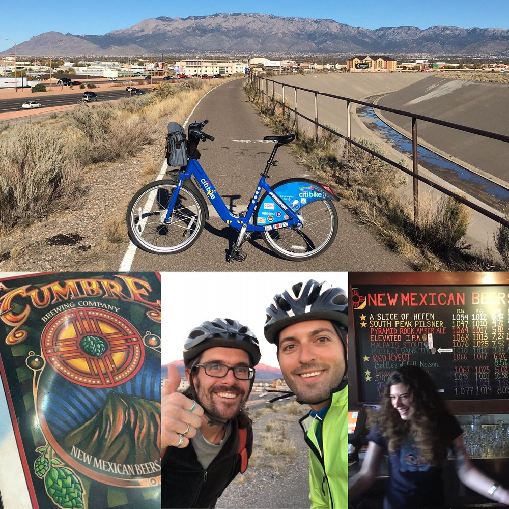 Biking to La Cumbre Brewing Co. via North Channel Trail