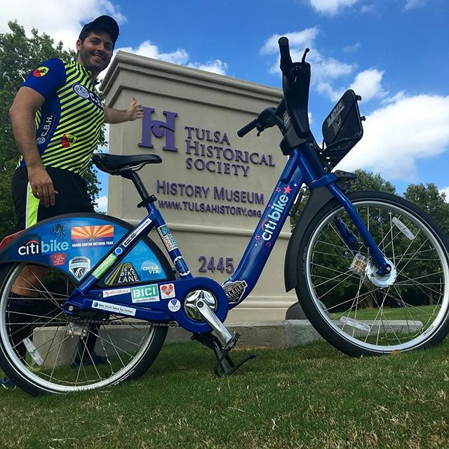 Exhibit closing ⚠️ 3 wks to see Countri Bike @tulsahistorymuseum thru 3/3. Then you'll have to come to my apartment or something. #bikeshare #citibike #biketouring