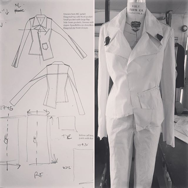 #muslin #winterfashion #notchedcollar #uneven #hemlines #pockets #details #sketches #tailoredforthestreets