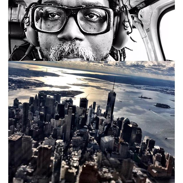 #helicopter #office flying over #manhattan #inspiring #copilot #tailoredforthestreets #fashiondesign
