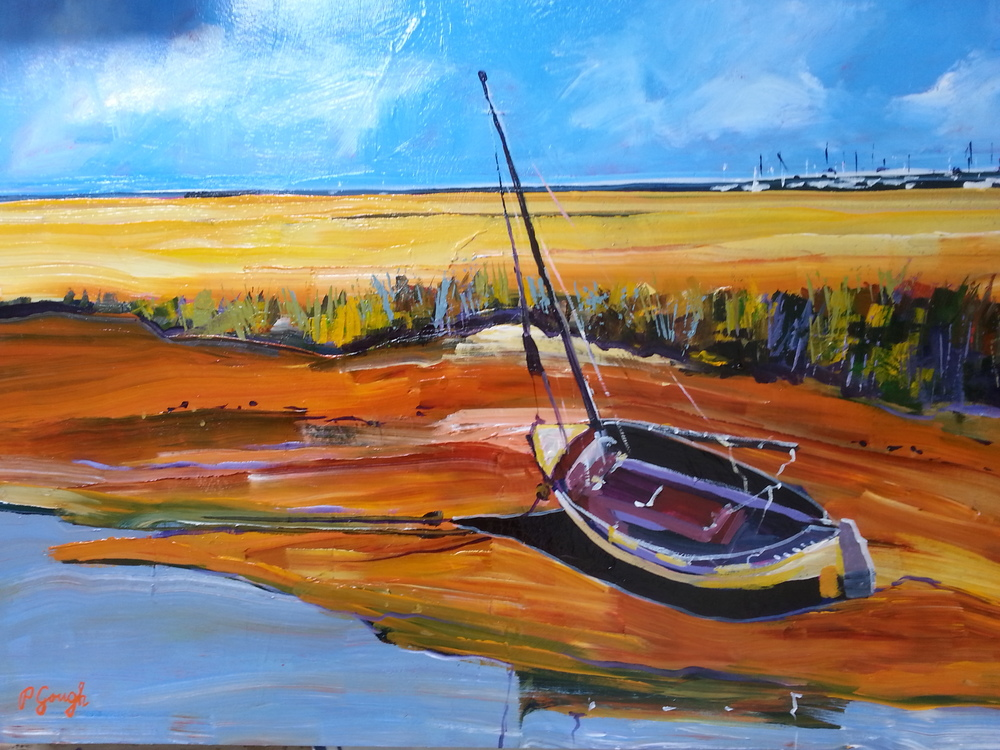 Lonely Boat by Pauline Gough