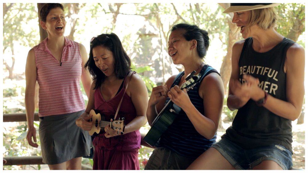 I love a good uke jam sing-a-long.  This is shot from my  Simplify  yoga retreat in Costa Rica.  It was a life changing experience.