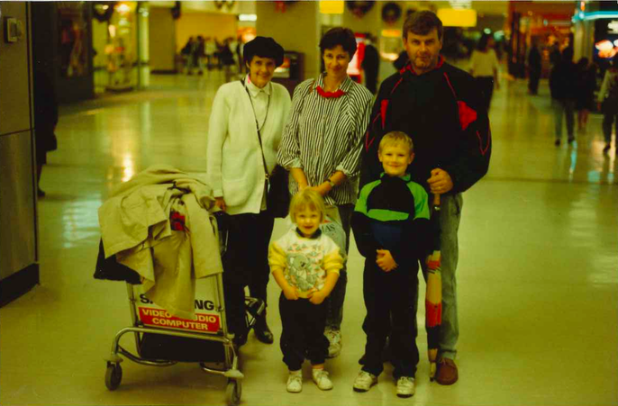 Airports were my jam from a significantly young age. Seen here wearing a koala print jumper flanked by my posse.