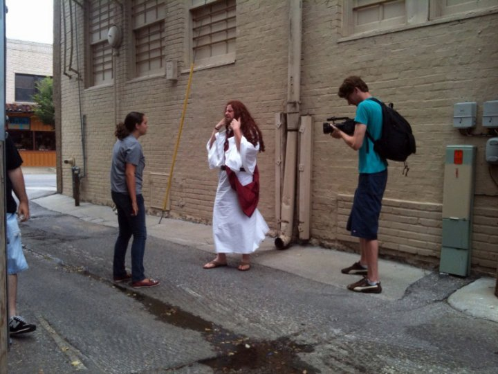 "Filming ""Jesus Christ: Super Hero"""