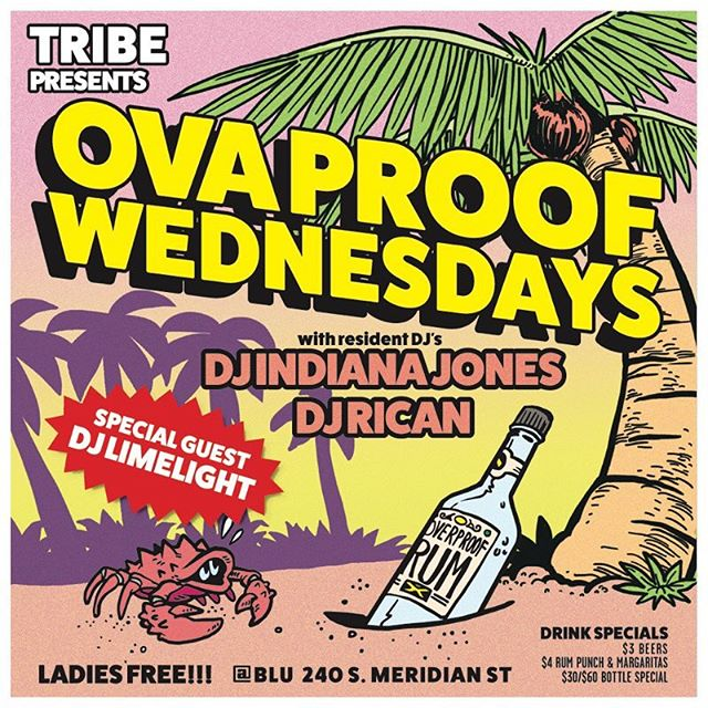 🌴🔥🌴🔥🌴Big pon di good vibes tonight for #ovaproofwednesdays with the homies @djrican317, @djindianajones & special guest, me!  Come join us and enjoy di riddims after the concert! ・・・$3 #beers $60 #ciroc #reggae #dancehall #dembow #reggaeton #latin #caribbean #vibes #dominos #rum #vodka #puertorico #jamaica #indianapolis ・・・ 🌴🔥🌴🔥🌴