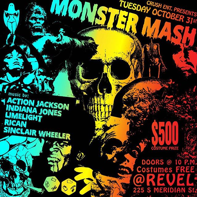 🎃 🧟‍♂️🕷💀🧟‍♀️👻😈 HALLOWEEN NIGHT 🎃 🧟‍♂️🕷💀🧟‍♀️👻😈 @revelindy @_actionjackson @djlimelight @djrican317 @sinclairwheeler @djindianajones 🎃 🧟‍♂️🕷💀🧟‍♀️👻😈 #Free with costume, $500 prize for best costume! 🎃 🧟‍♂️🕷💀🧟‍♀️👻😈 #Industry #holloween #indy #downtownindy