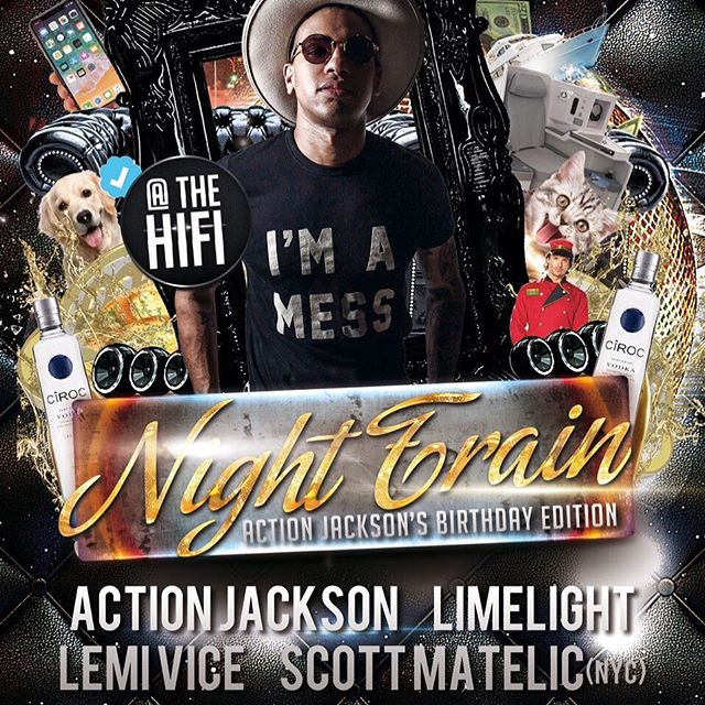 Black Friday ⚫️🚇✨ Night Train returns to celebrate the incomparable @_actionjackson's bday w/ very special guests 💎 @LemiVice + @Scott_Matelic!  11/24 🔊➡️ @thehifiindy