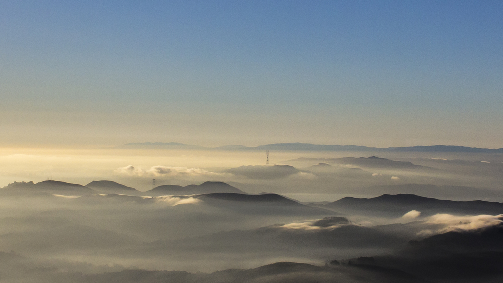 San Francisco Bay from Mt. Tam in Marin County