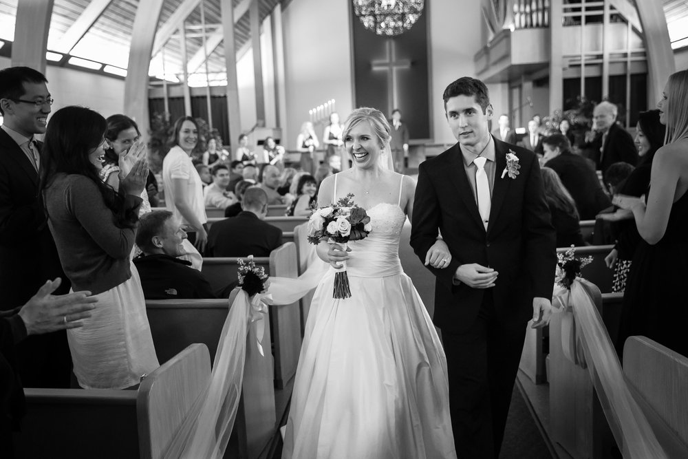 Seattle Community Church Wedding Photography | By G. Lin Photography | Recessional