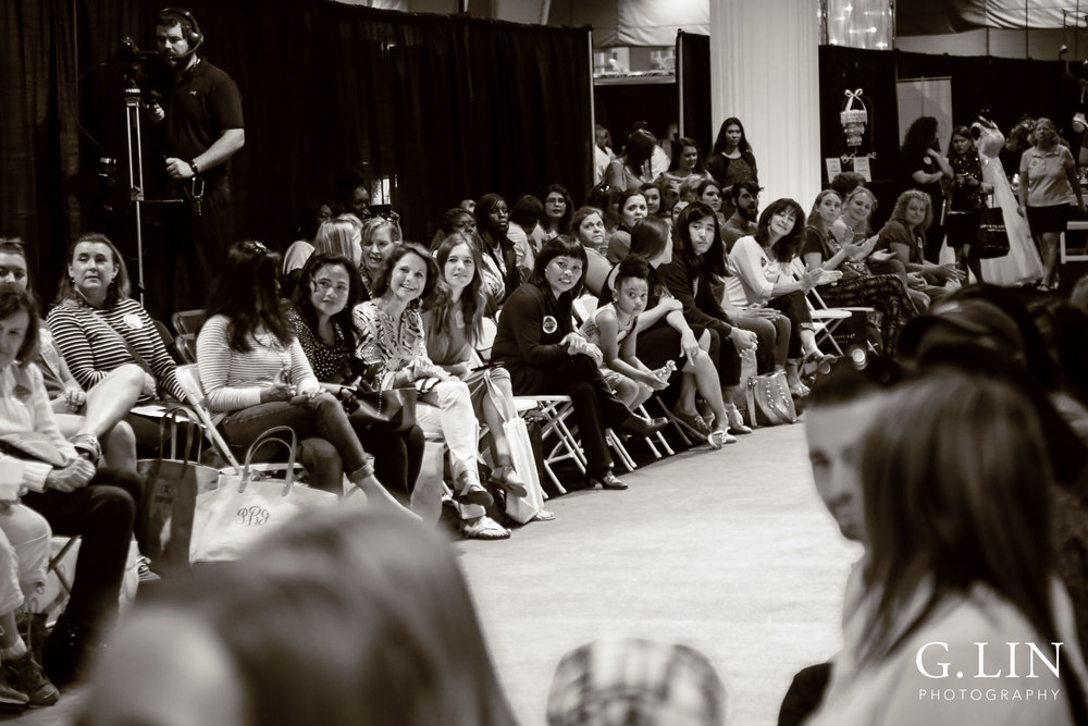 Raleigh Event Photographer | G. Lin Photography | Guests waiting for fashion show to start at wedding show