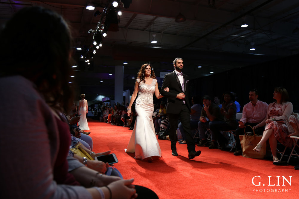 Raleigh Event Photographer | G. Lin Photography | Models walking down runway in wedding dress and tux