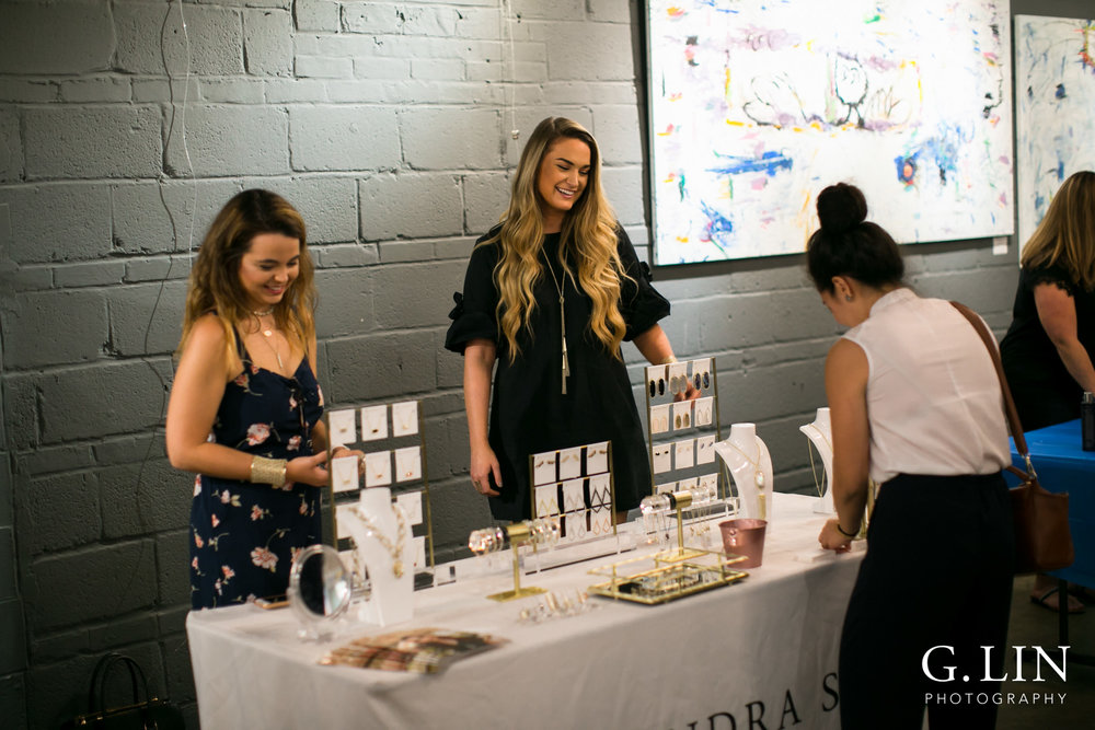 Raleigh Event Photographer | G. Lin Photography | Vendors from Kendra Scott chatting with customers
