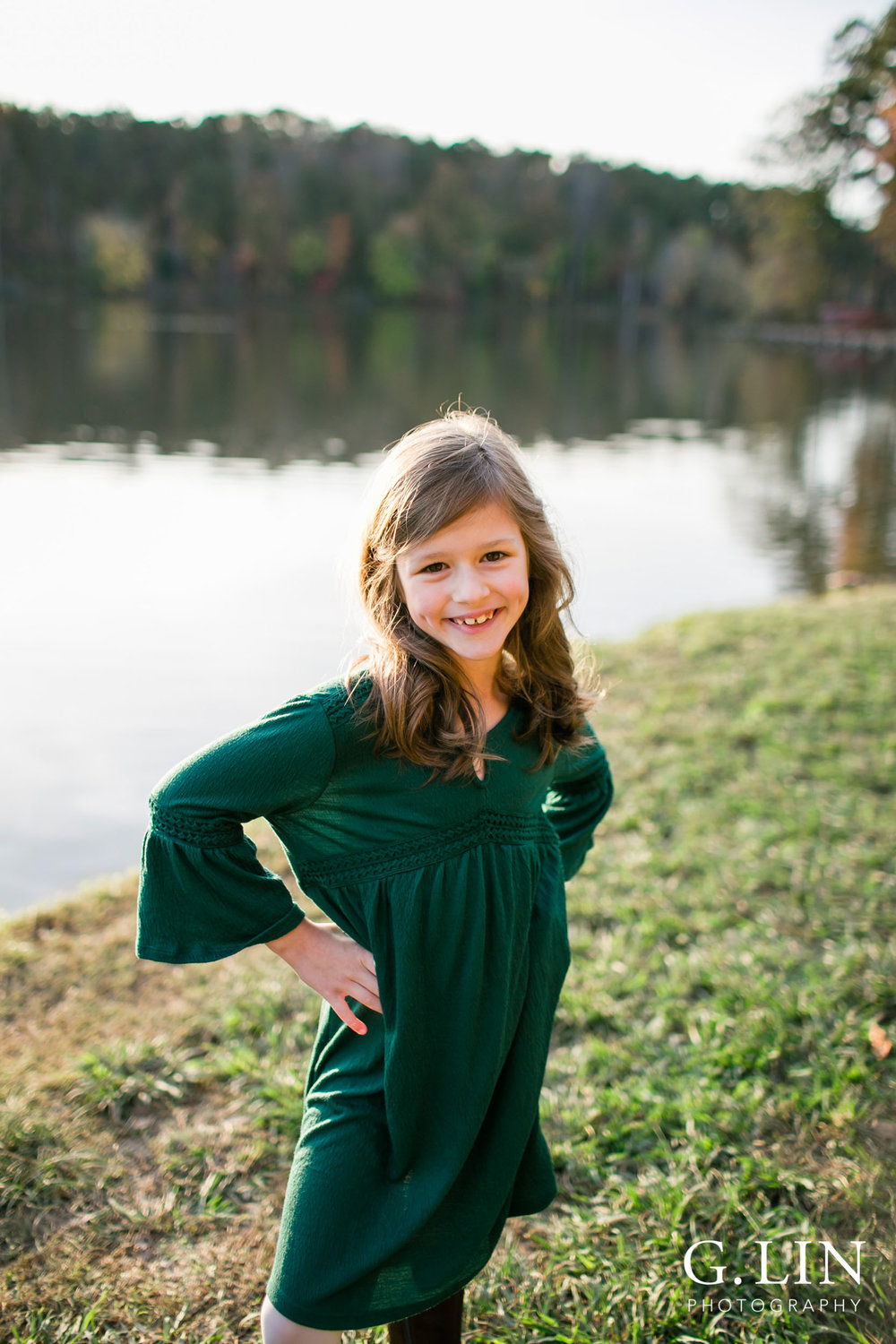 Raleigh Family Photographer | G. Lin Photography | Children's portrait of oldest sister