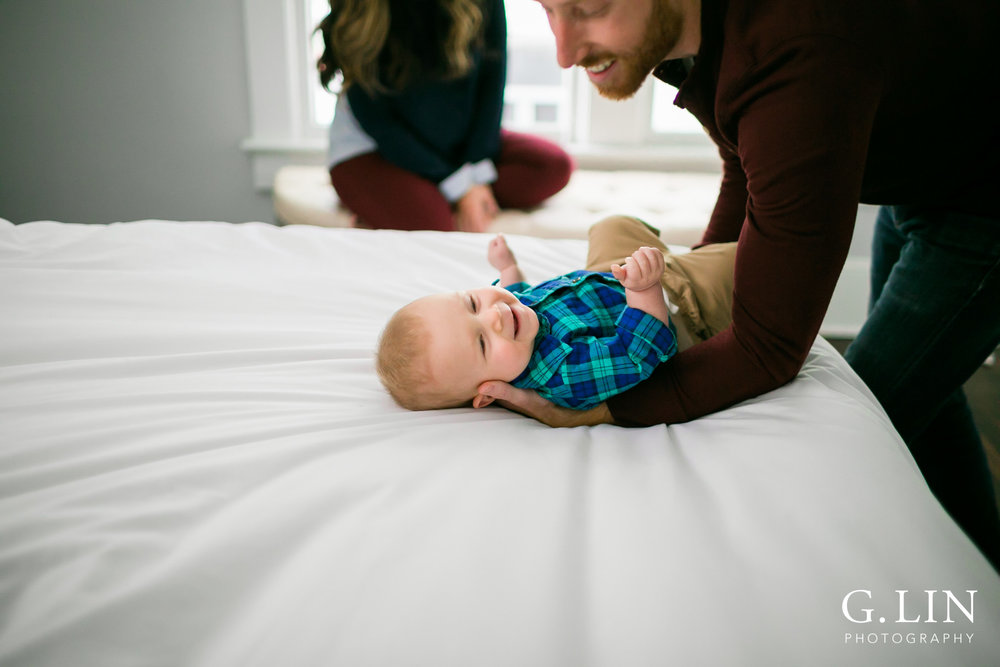 Durham Family Photographer | G. Lin Photography | dad playing with baby boy