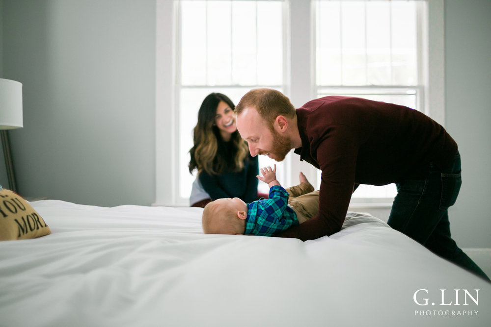 Durham Family Photographer | G. Lin Photography | modern photo of family lifestyle shoot