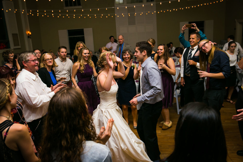 Dancing during wedding reception | Durham Wedding Photographer | By G. Lin Photography