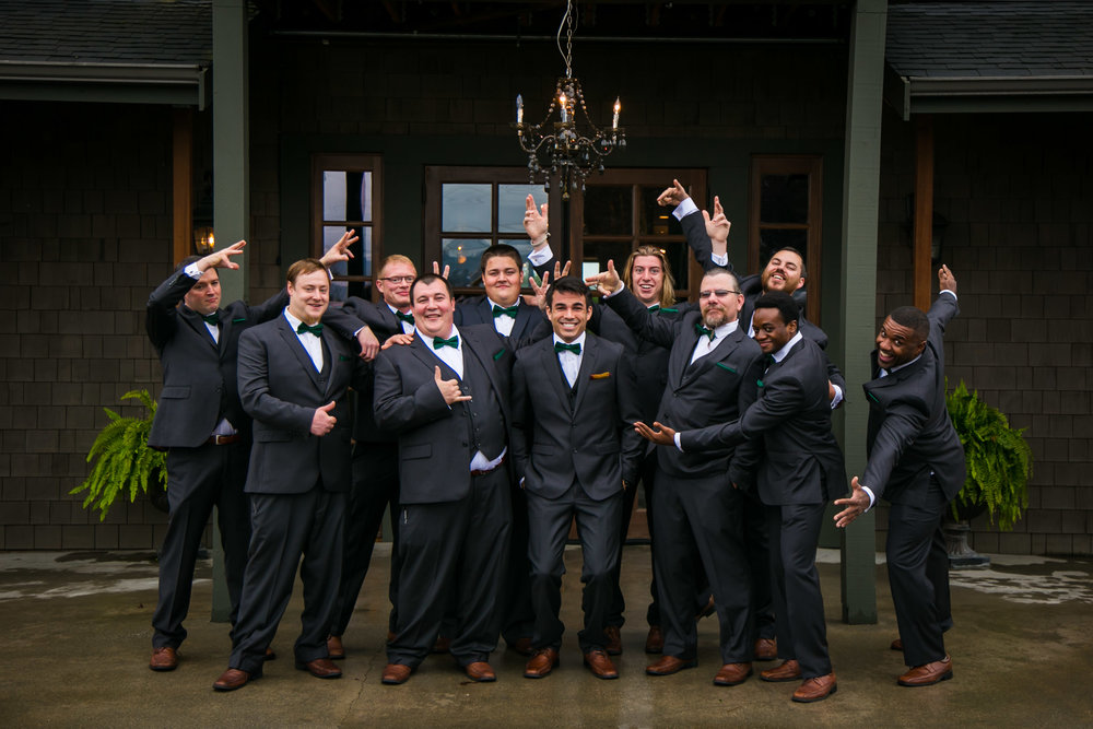 Groomsmen portrait, fall wedding | Durham Wedding Photographer | By G. Lin Photography