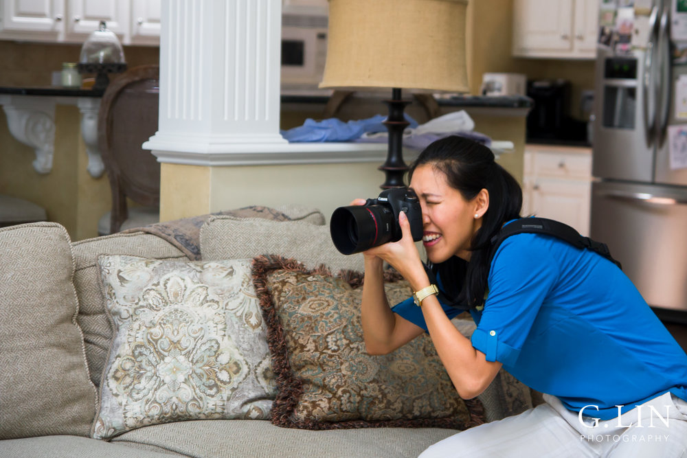 Photo of me using the camera | Family Photographer in Raleigh NC | By G. Lin Photography