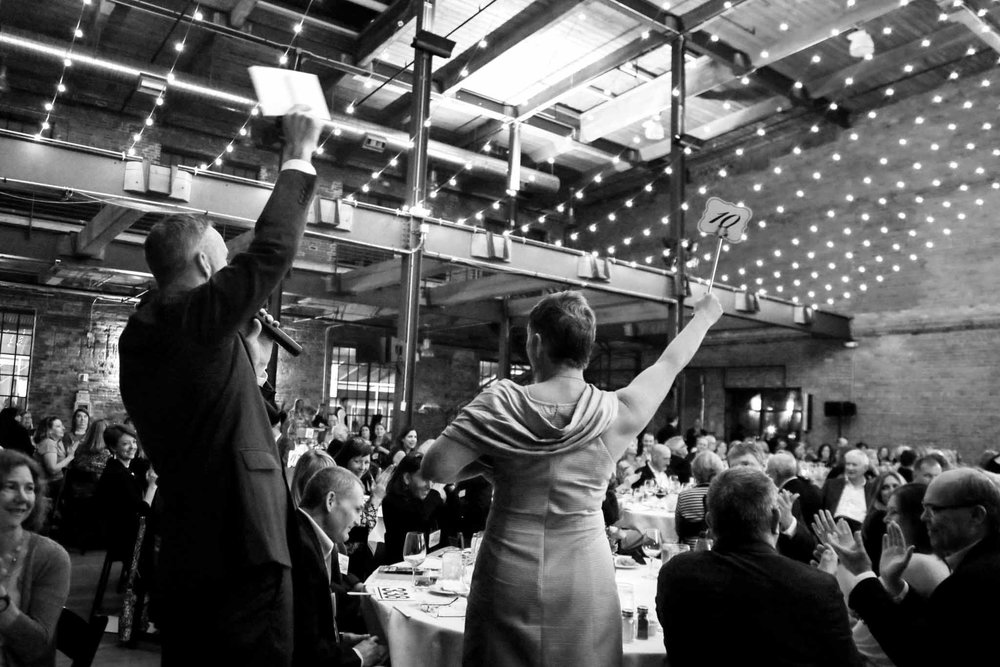 Auction at Fundraiser for Catwalk to Camp | Durham Event Photography | G. Lin Photography