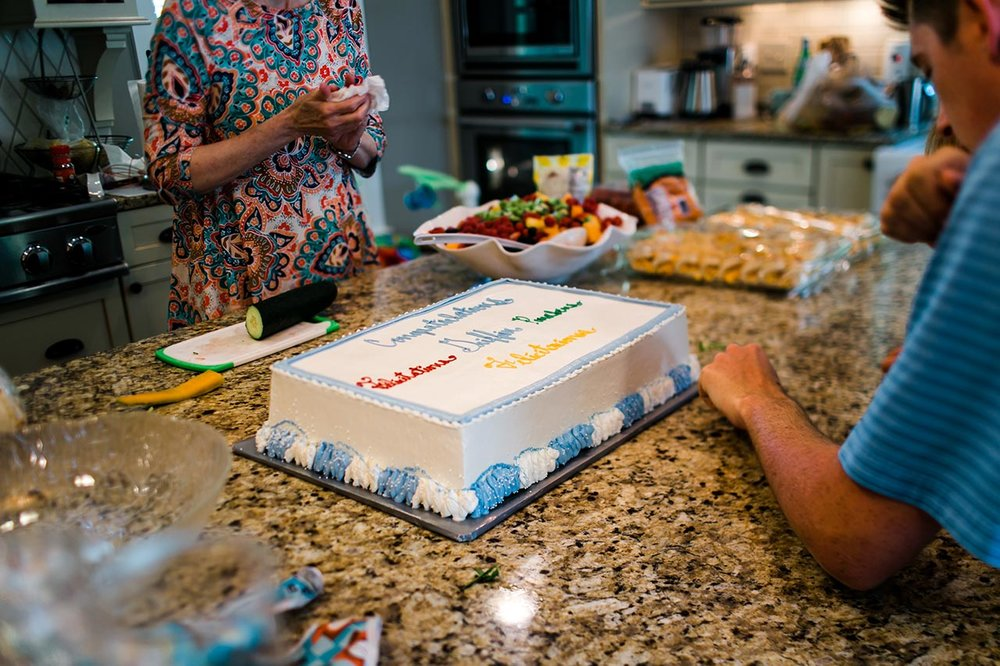 Graduation Cake | Graduation Portraits for UNC Student | By G. Lin Photography