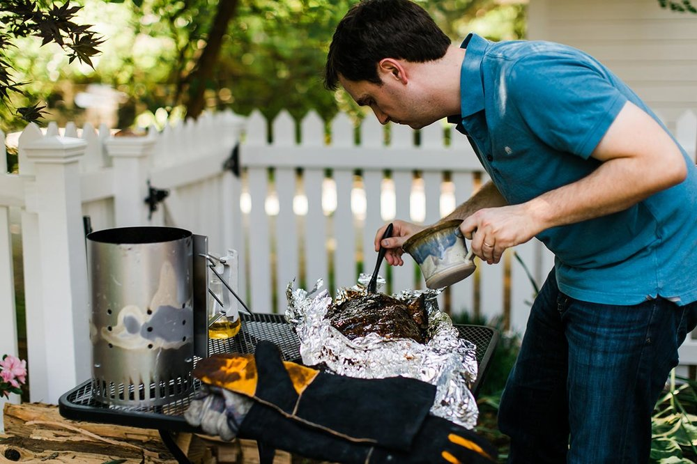 BBQ | Graduation Portraits for UNC Student | By G. Lin Photography