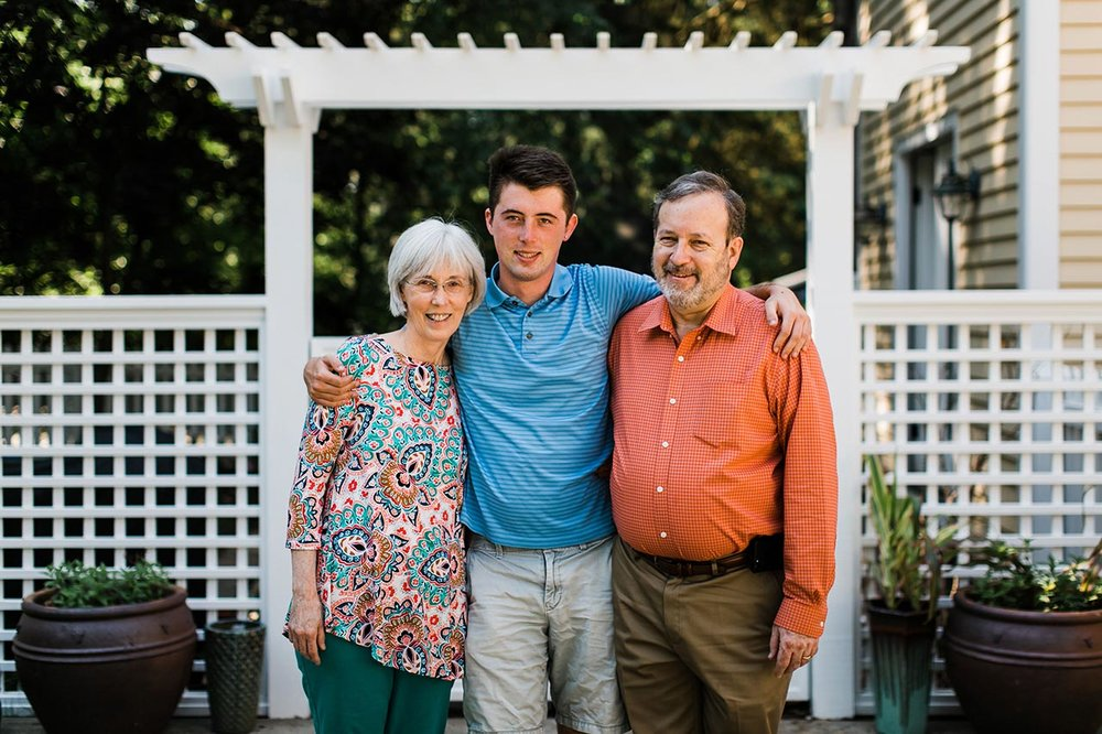 Family Portrait with Graduate in Hillsborough | Graduation Portraits for UNC Student | By G. Lin Photography | Hillsborough Family Photographer