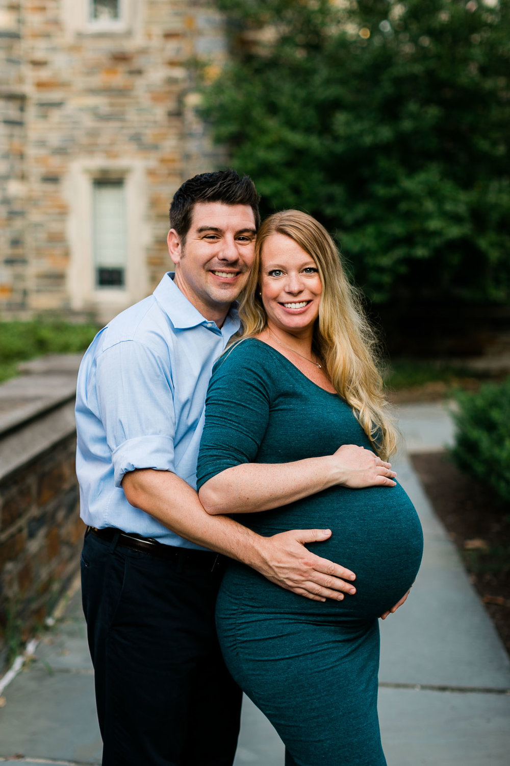 Husband and Wife Portrait | Durham Maternity Photographer | By G. Lin Photography