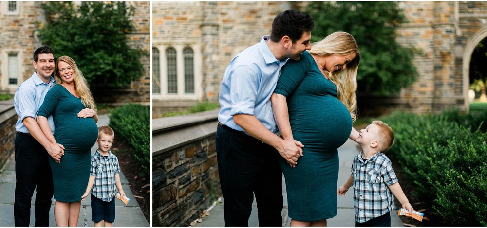 Little boy with mom and dad | Durham Maternity Photographer | By G. Lin Photography