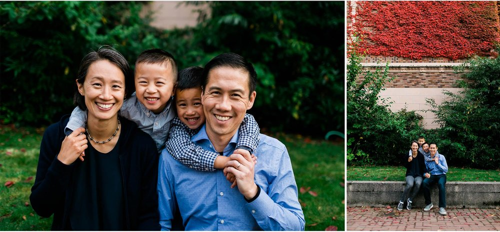 Family portrait at UW | Seattle Family Photographer | By G. Lin Photography