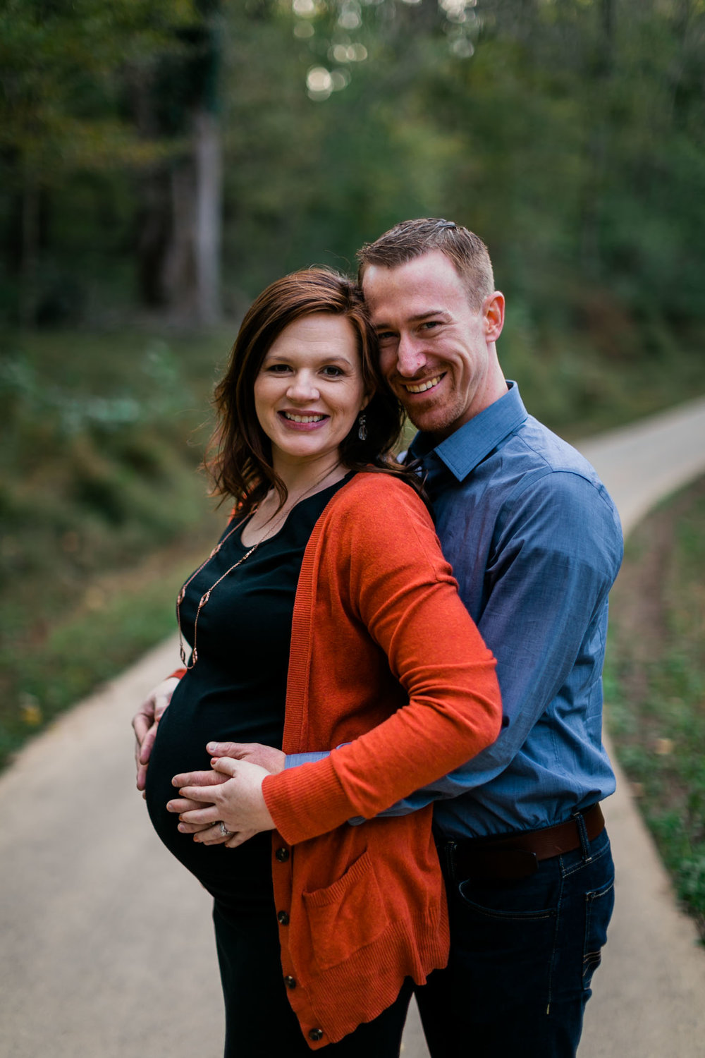Maternity portrait at Hillsborough Riverwalk | Durham Maternity Photographer | By G. Lin Photography