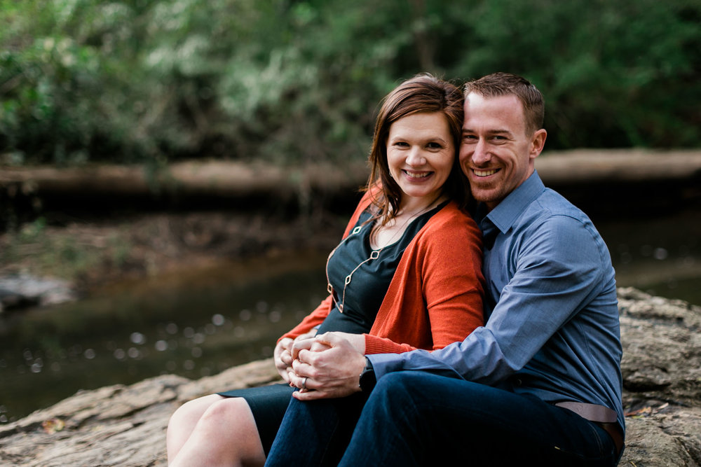 Gorgeous couple photo at Hillsborough Riverwalk | Durham Family Photographer | By G. Lin Photography