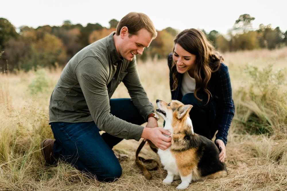 Outdoor family session with dog at NC Museum of Art in Raleigh, NC | Raleigh Family Photographer | By G. Lin Photography