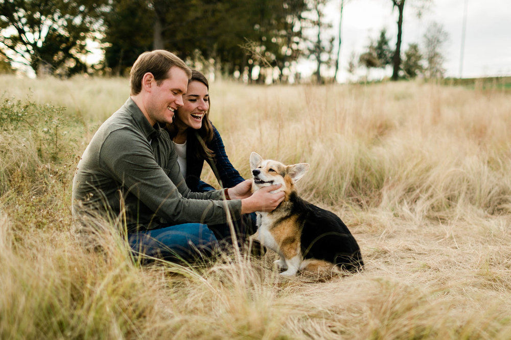 Cute fall family photo outdoors | Raleigh Family Photographer | By G. Lin Photography
