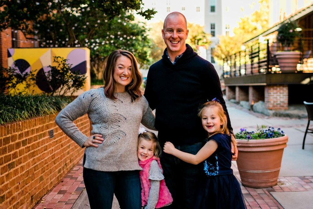 Family Photo at The American Tobacco Campus | Durham Family Photographer | By G. Lin Photography