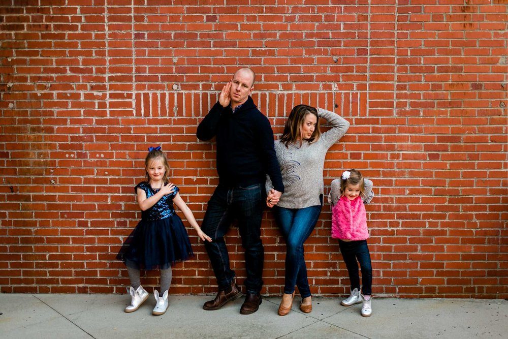 American Tobacco Campus Family Portrait | Durham Family Photographer | By G. Lin Photography