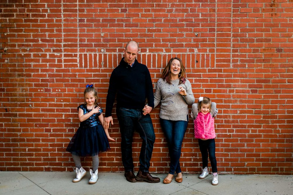 American Tobacco Campus Family Photo | Durham Family Photographer | By G. Lin Photography