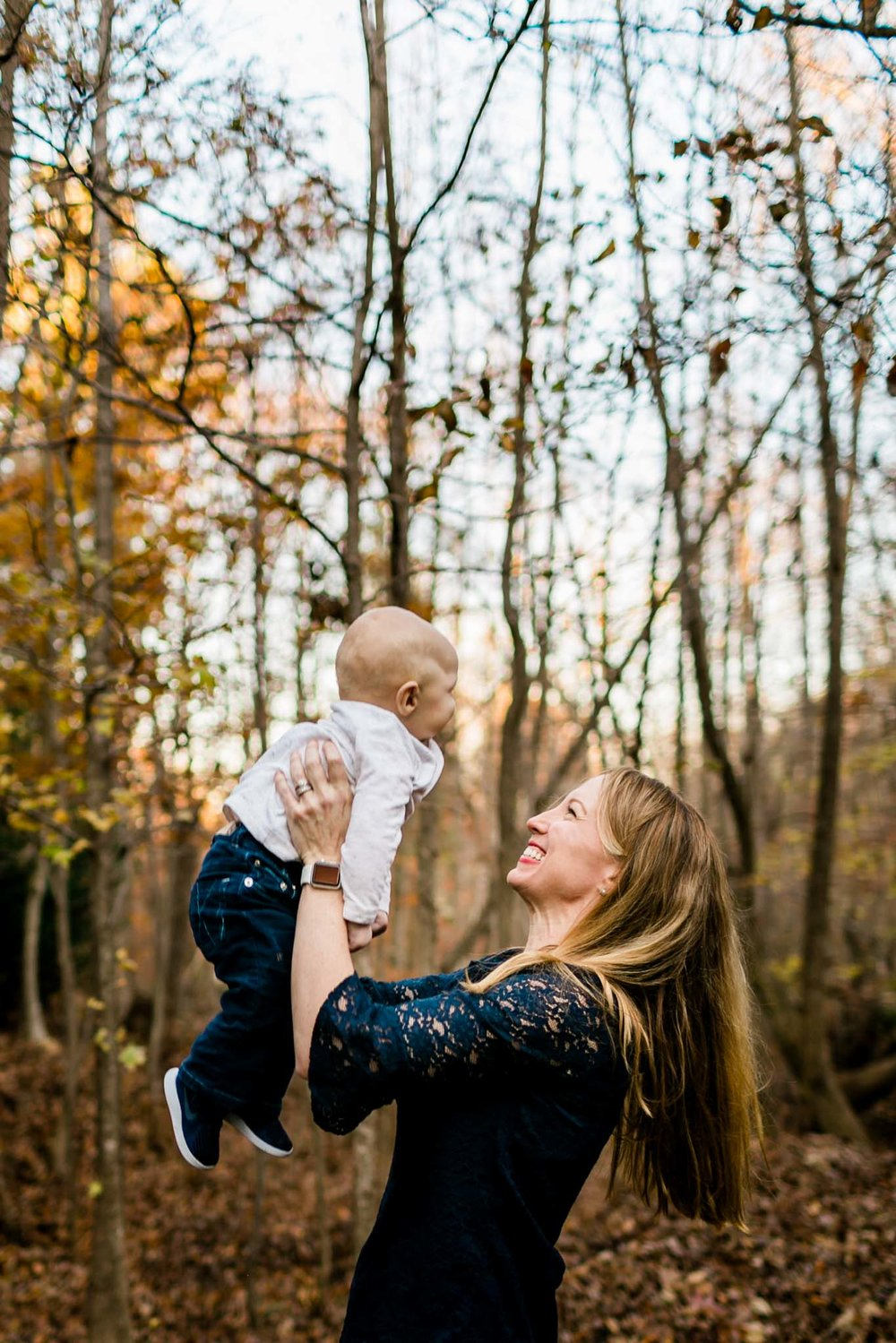 Outdoor portrait of mom and son | By G. Lin Photography | Durham Family Photographer