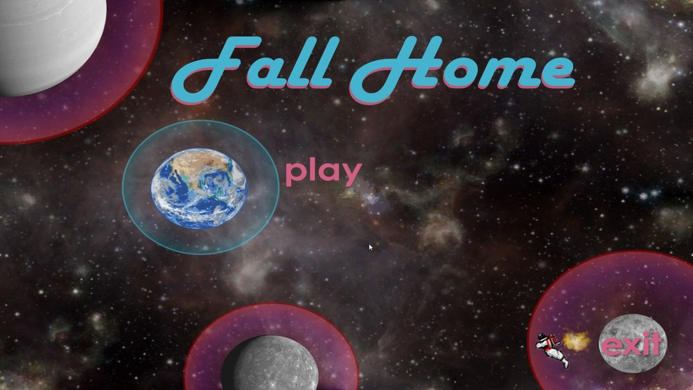 Fall Home - start screen