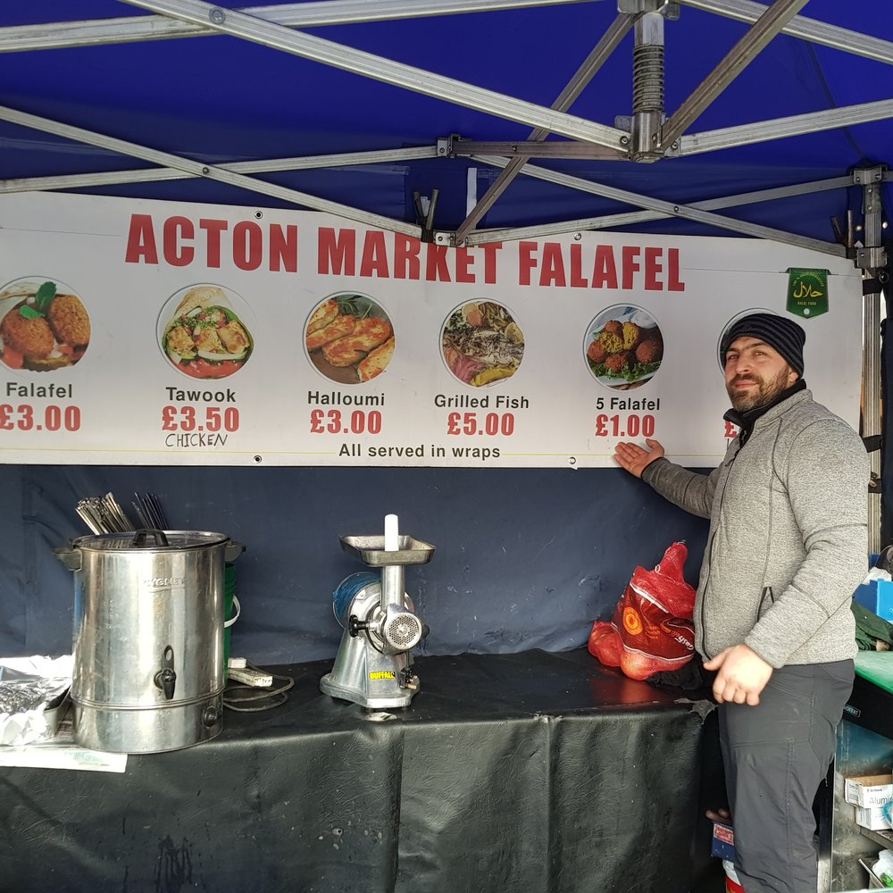 The men at the Falafel booth serve up fresh made wraps filled with either Falafel or the meat or your choice.  They also serve other authentic items such as grilled Halloumi cheese and it is always made fresh and served with a smile.