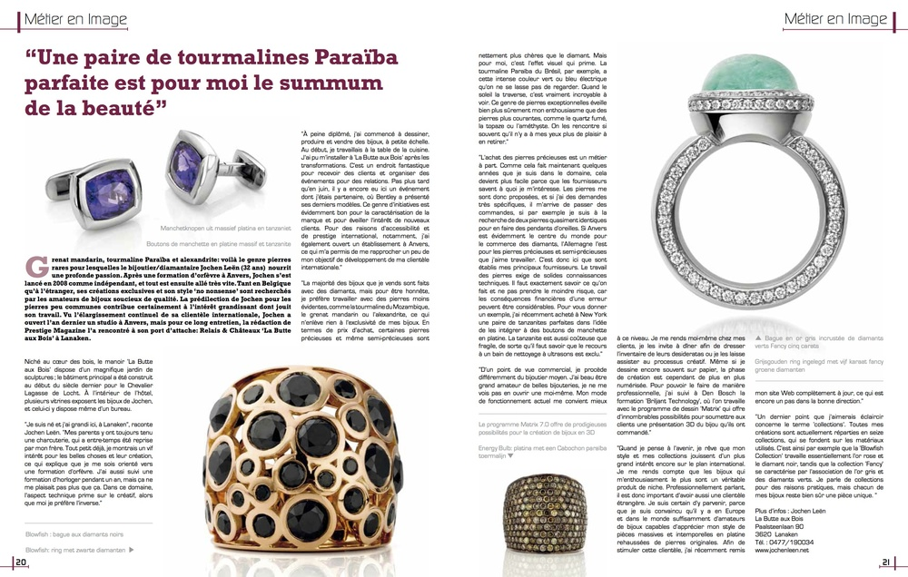 Prestige Magazine for Belgian Jewelers : Craftsmanship