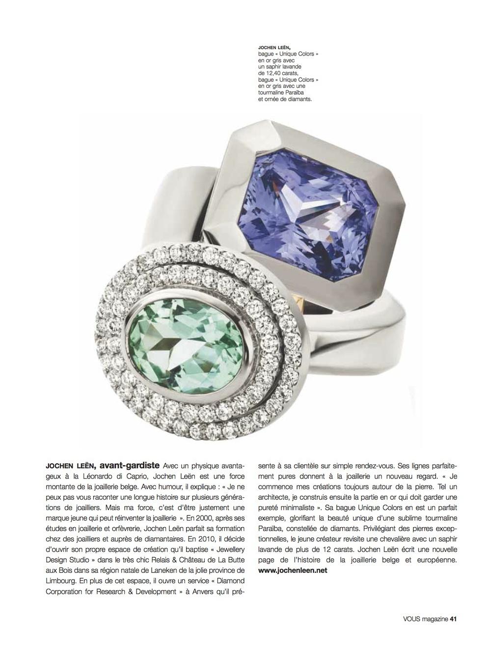 Paris , Vous Magazine 2013