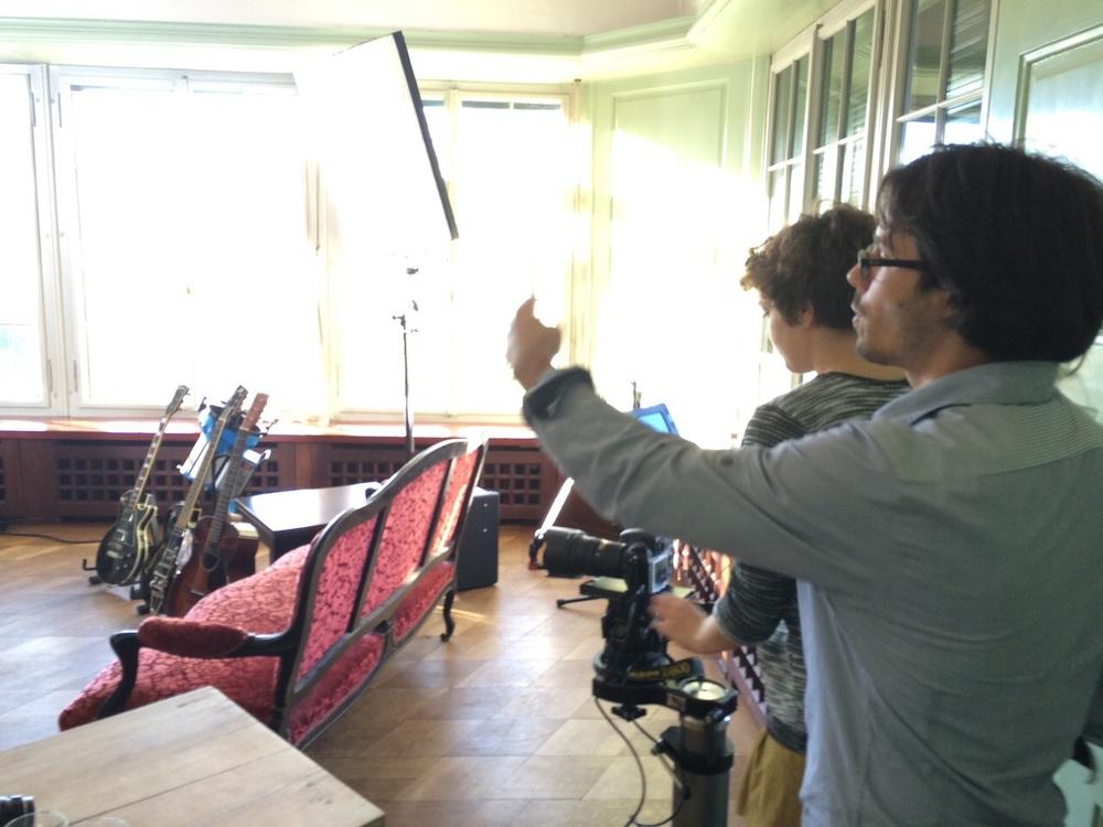 With camera operator Corinne Soland.