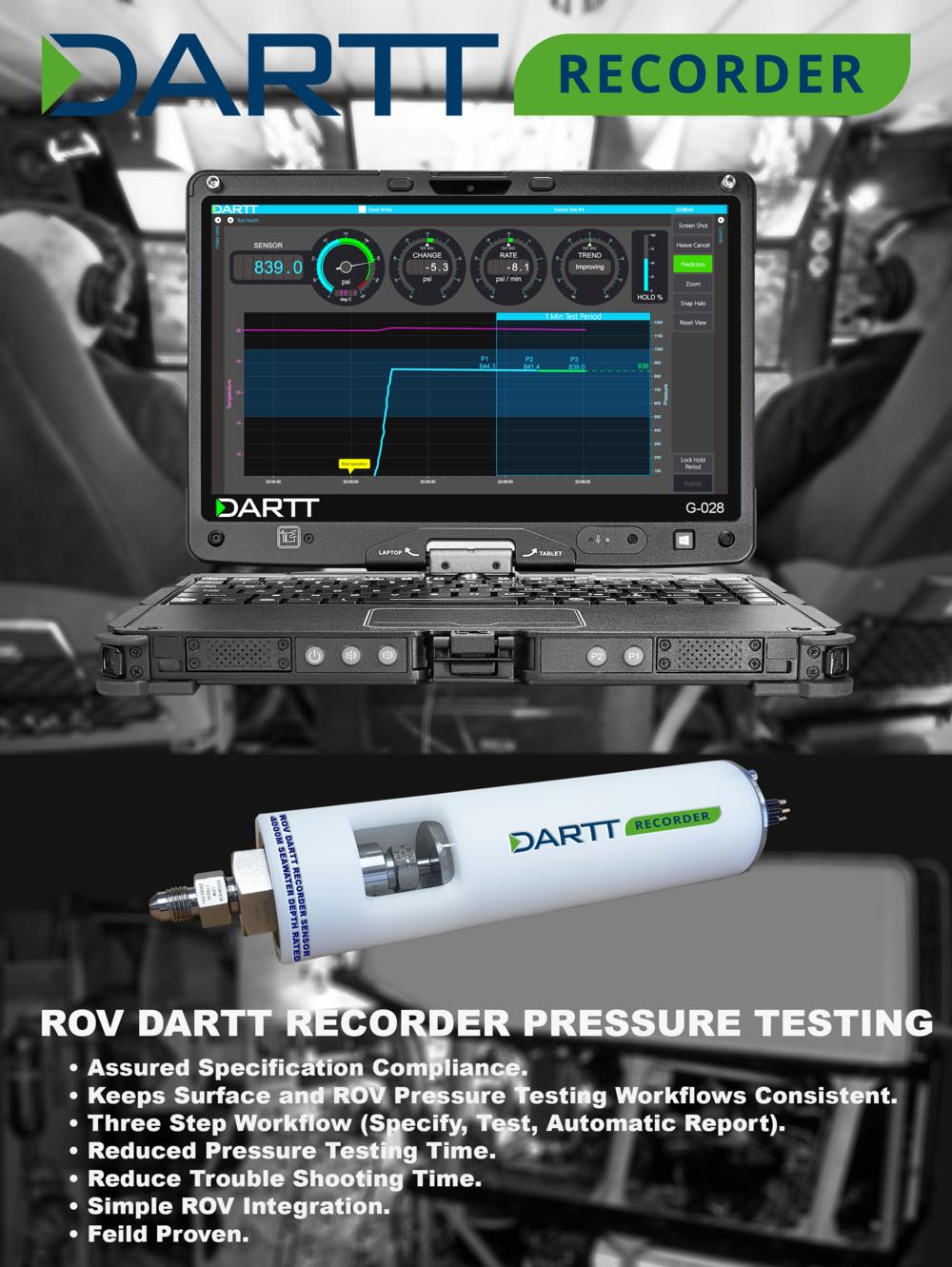 ROV Presssure Testing DARTT Recorder
