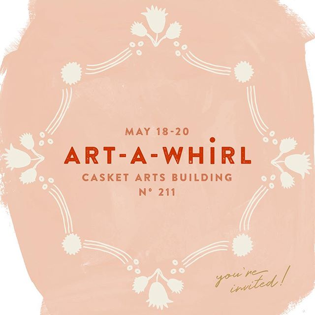It's officially #artawhirl weekend! Check out my new shop page @blueavalonshop for a preview of the goods I'm selling and see you @casketarts studio 211 for the real deal!
