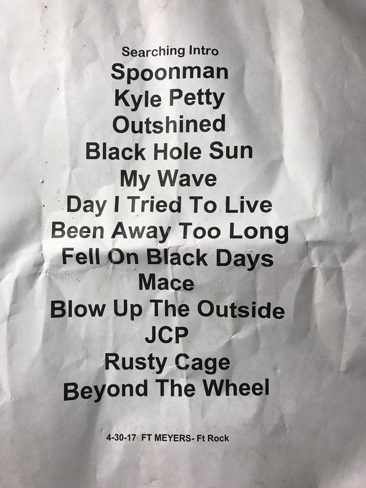 Setlist Meghan snagged after the show