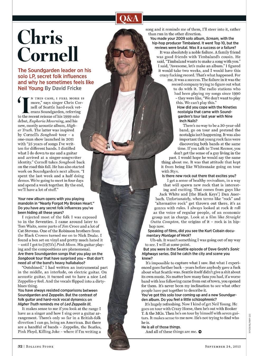 Rolling Stone September 2015
