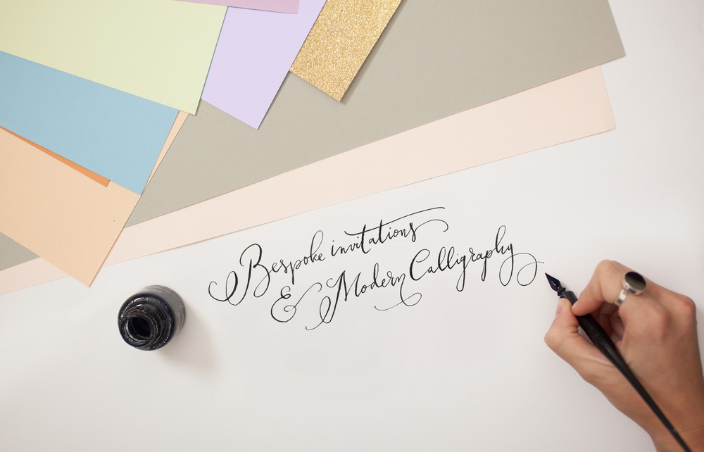 Lamplighter London, bespoke invitations & modern calligraphy