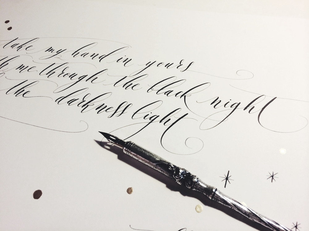 Lamplighter London Modern Calligraphy Haiku
